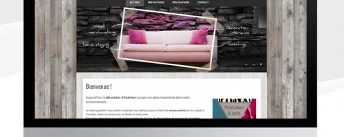 Site Internet Pour Une Décoratrice D'intérieur / Web Design For An Interior Designer