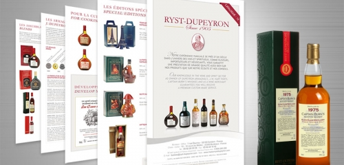 Catalogue Et Packaging Pour Un Négociant En Vins Et Spiritueux / Catalog And Packaging Design For A Wine & Spirit Merchant