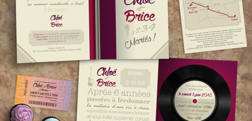 Faire Part De Mariage Et Carton D'invitation / Wedding Invitation Design