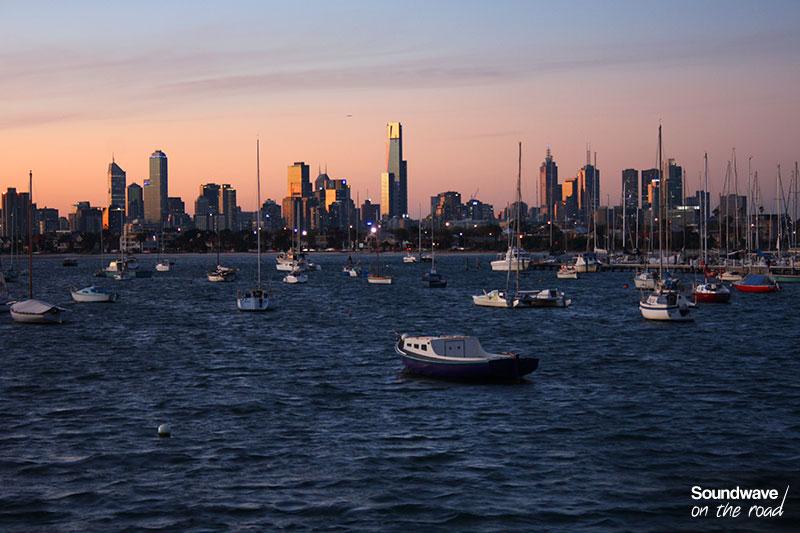 Vue sur Melbourne depuis St Kilda