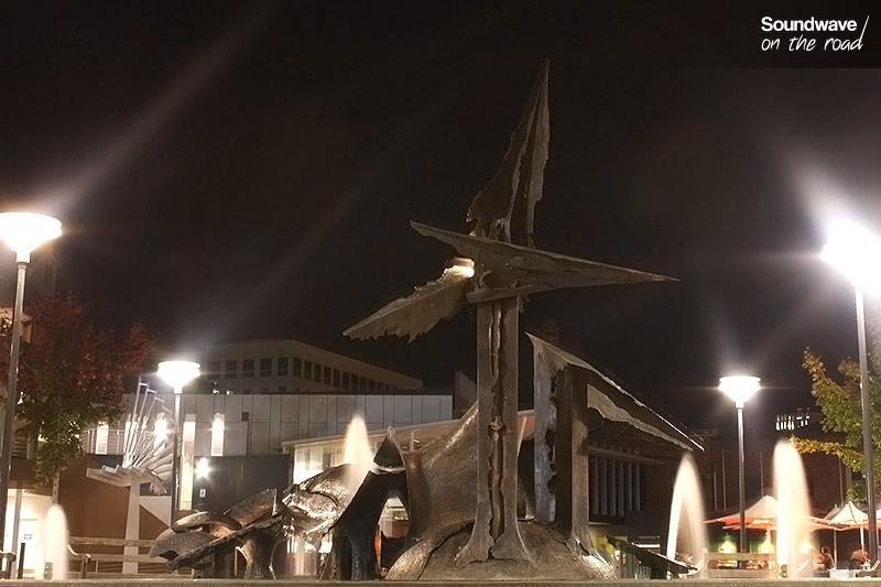 Fontaine du Salamanca Square de nuit