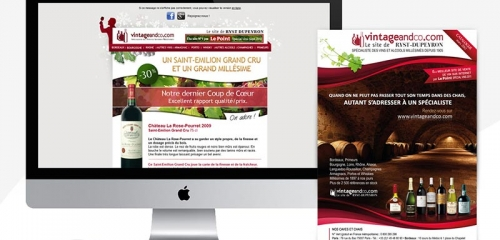 Newsletter Et E-catalog Pour Un Négociant En Vins / Newsletter And E-catalog Design For A Wine Merchant