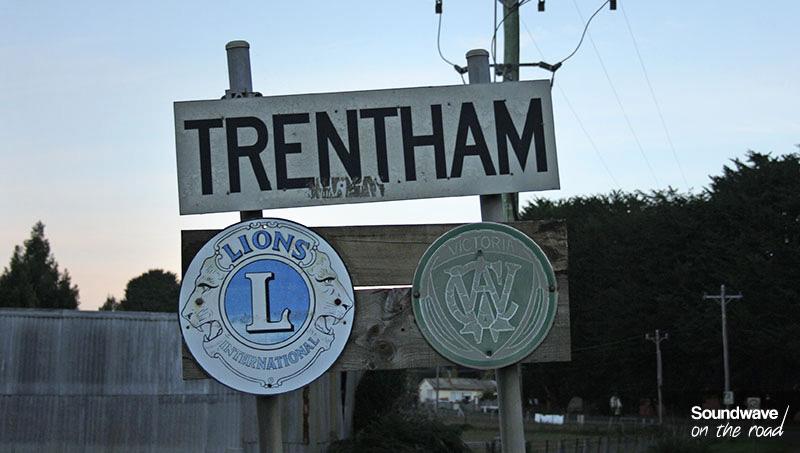 Trentham twon sign, Australia, Victoria