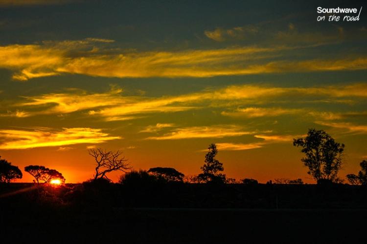Coucher De Soleil Dans L'outback Australien
