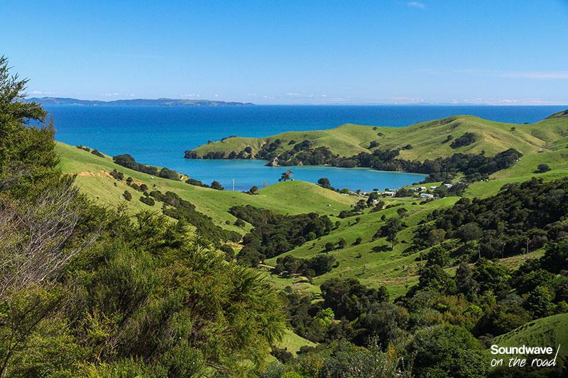 Baie turquoise en Nouvelle Zélande