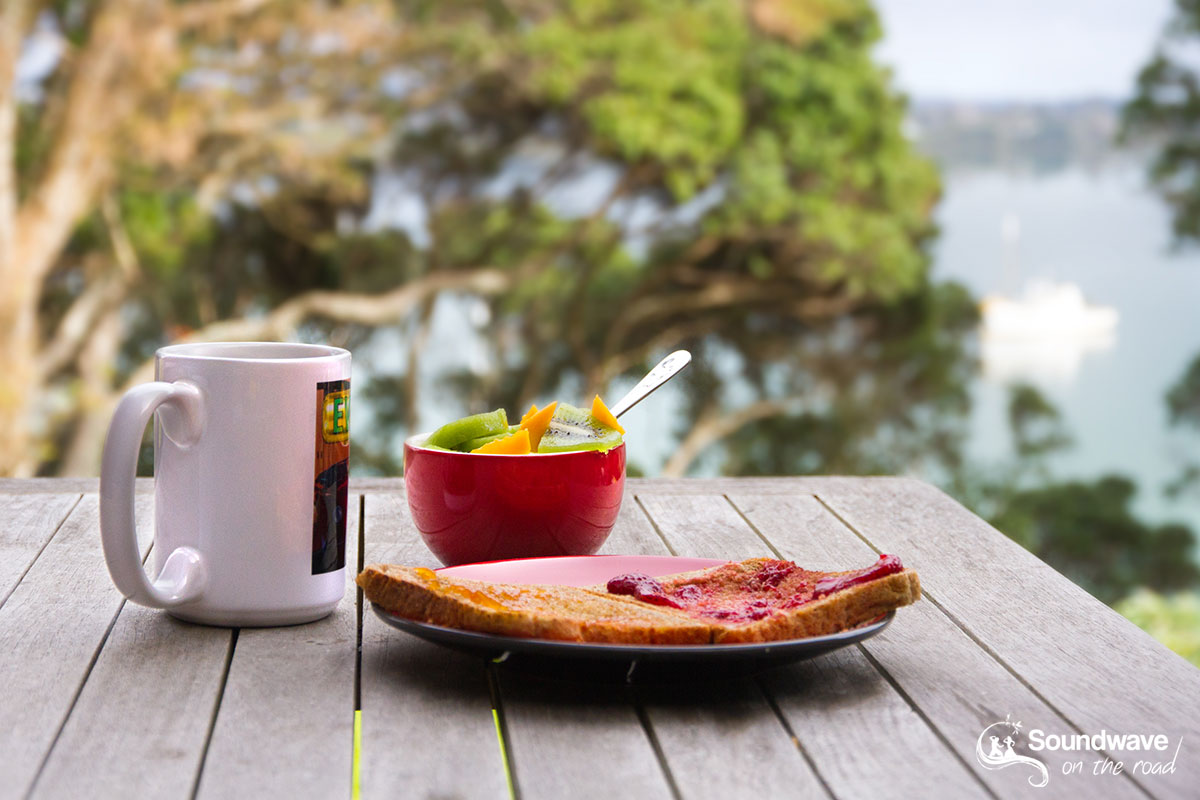 Healthy breakfast with sea views