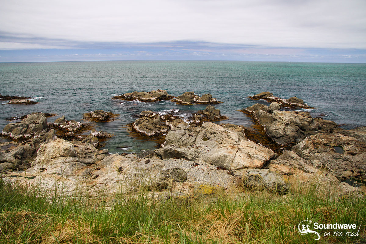 New Zealand landscape on the Kaikoura Coast