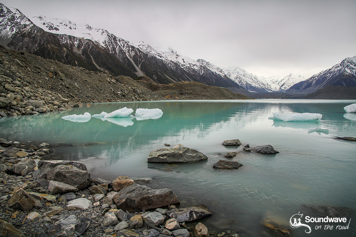 Tasman Lake and Glacier, New Zealand