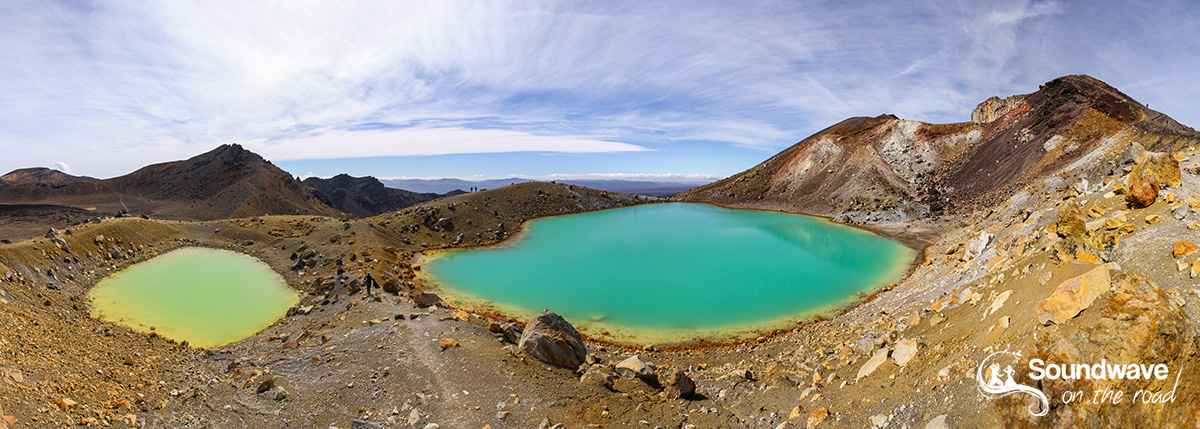 Tongariro Crossing lakes Panorama, New Zealand