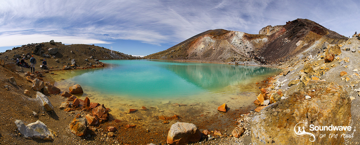 Tongariro Crossing lake, New Zealand
