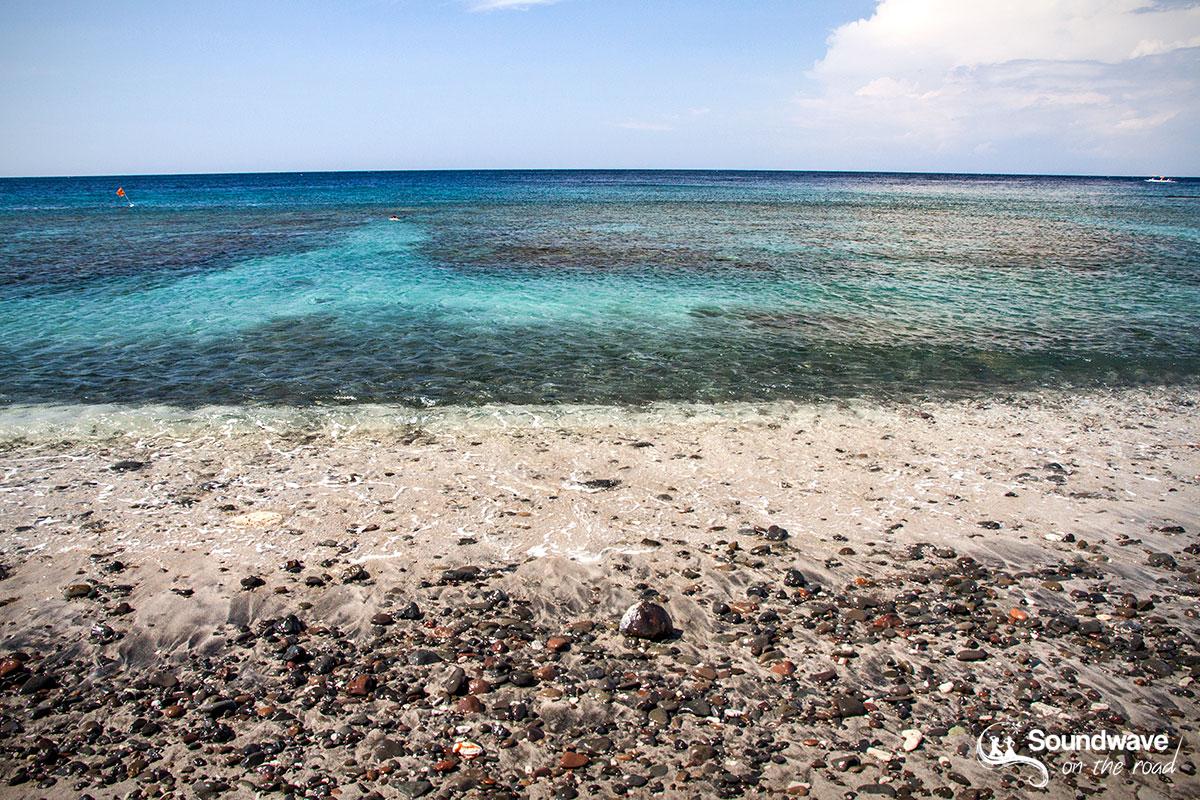 Stone beach in Amed, Bali, Indonesia