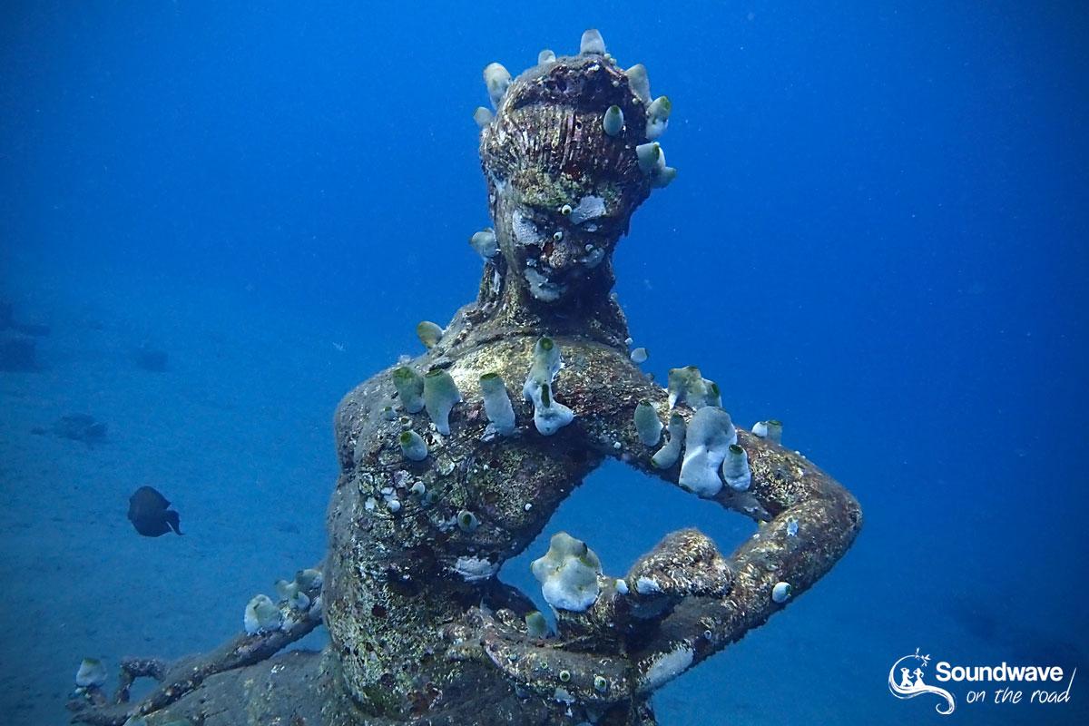 Underwater statue in Amed, Jemeluk, Bali