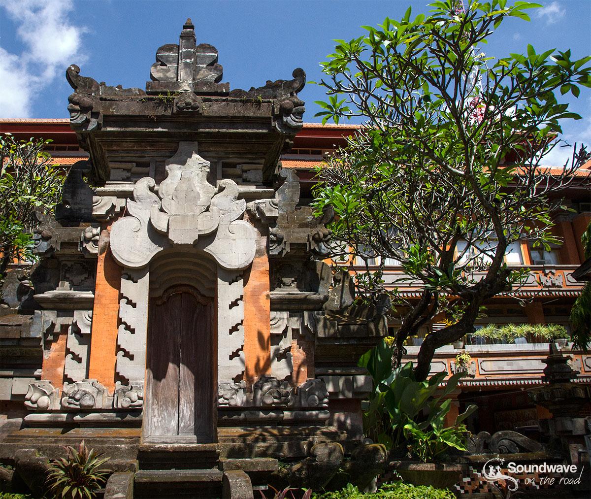 Temple door in Bali