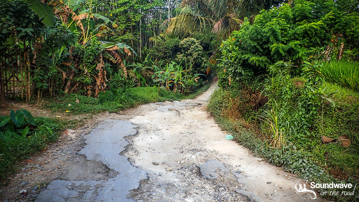 Rutted road in Bali