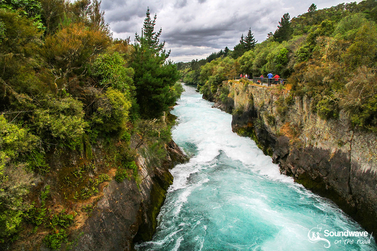 Aratiatia rapids river, Taupo, New Zealand