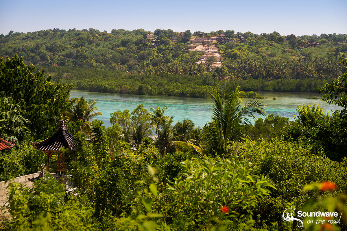 Tropical view over the lagoon from Nusa Ceningan