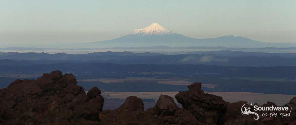 Mount Taranaki from the Tongariro Crossing