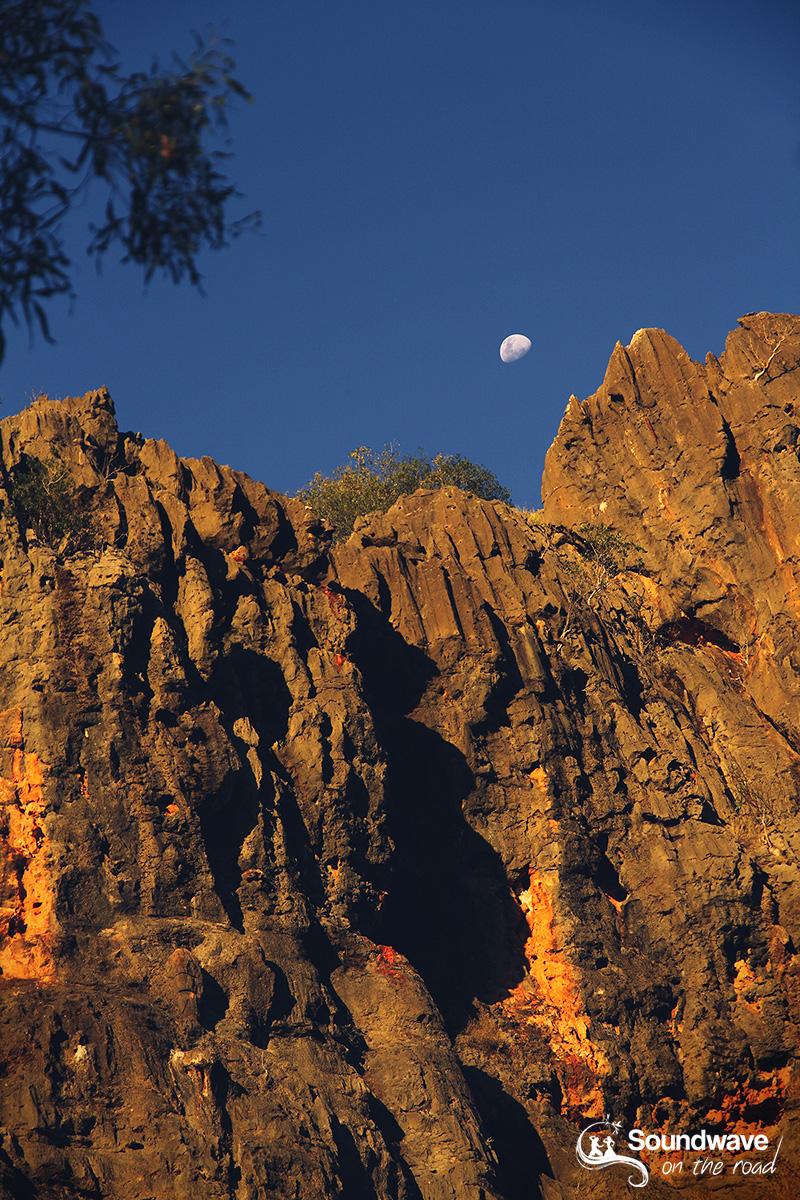 Moon rise over Windjana Gorge