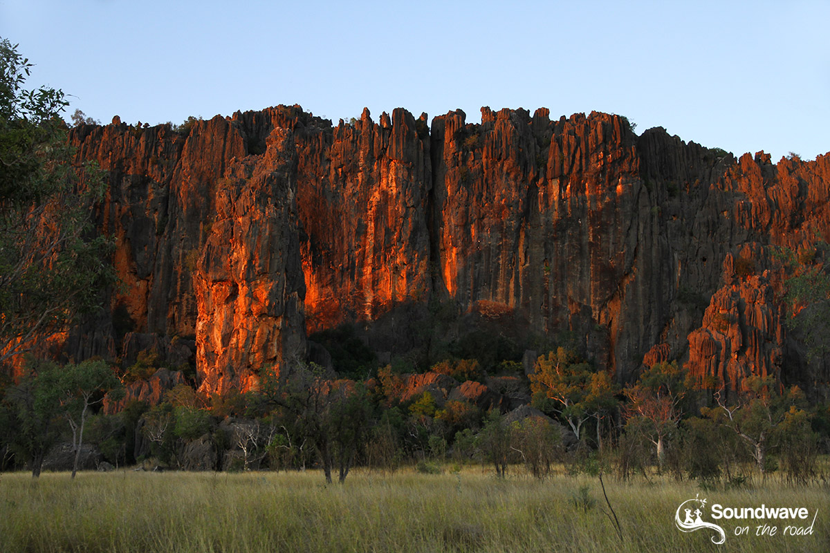 Windjana Gorge at sunset