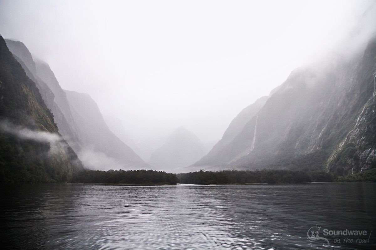 Milford Sound in the clouds