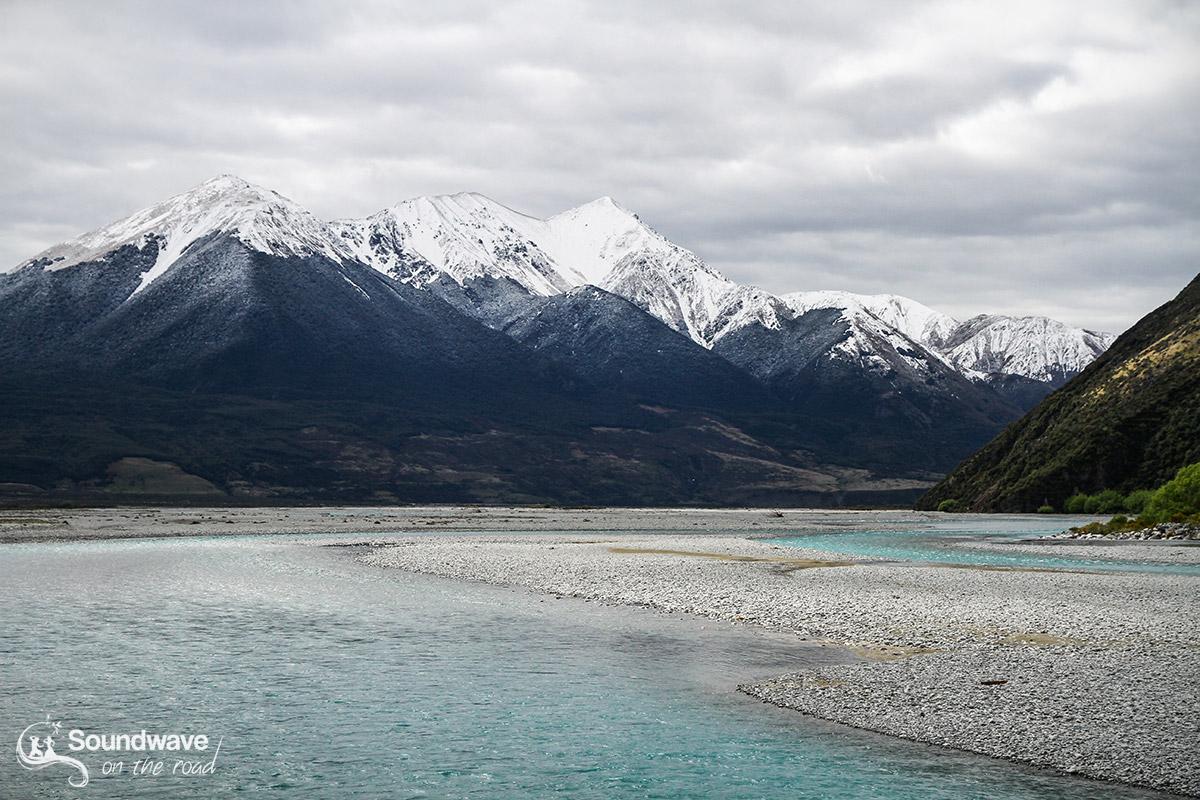 Rivière glacée d'Arthur's Pass
