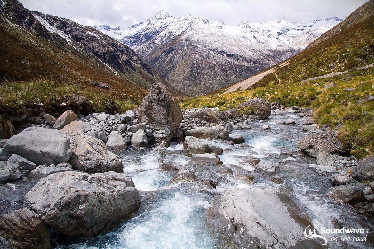 Vue sur les vallées du parc national d'Arthur's Pass