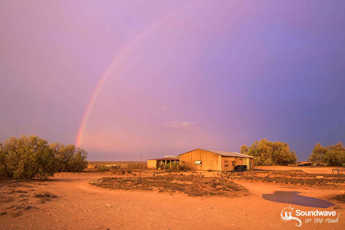 Rainbow in the outback