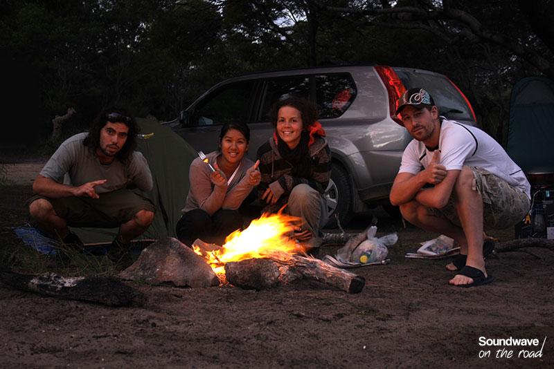 Rien de tel qu'une bonne soirée autour d'un feu de camp !