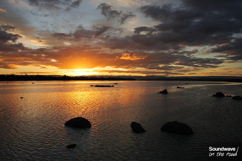 Coucher de soleil à Coles Bay