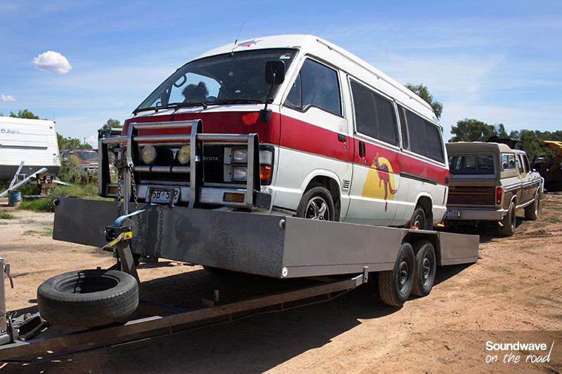 Remorquage d'un van en Asutralie