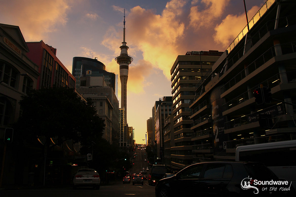 Sunset at the Sky Tower