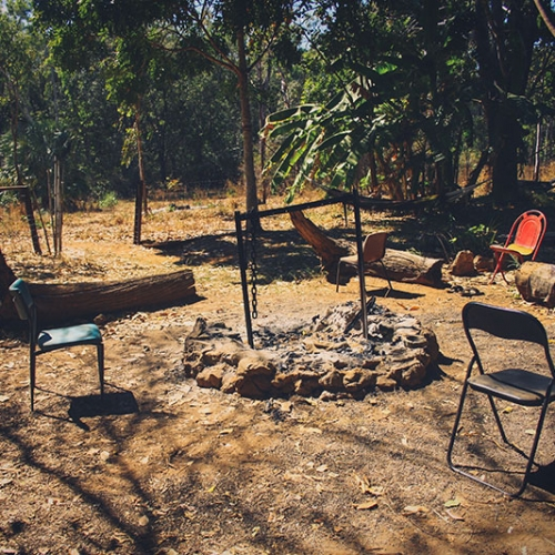 Camp Dans Le Bush Australien