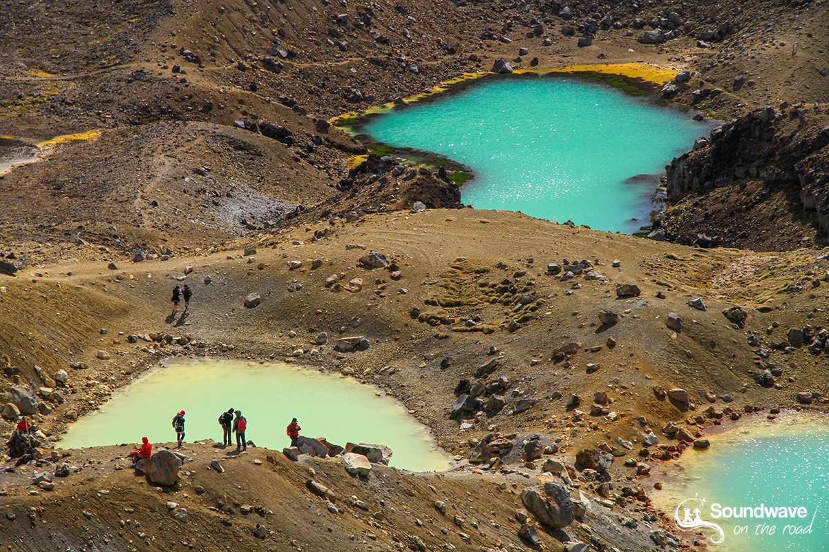 Tongariro Crossing lakes, New Zealand