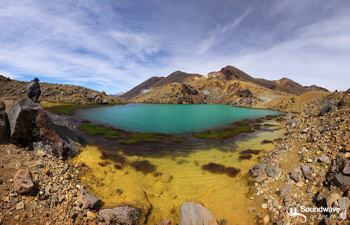 Tongariro Crossing emerald lake, New Zealand