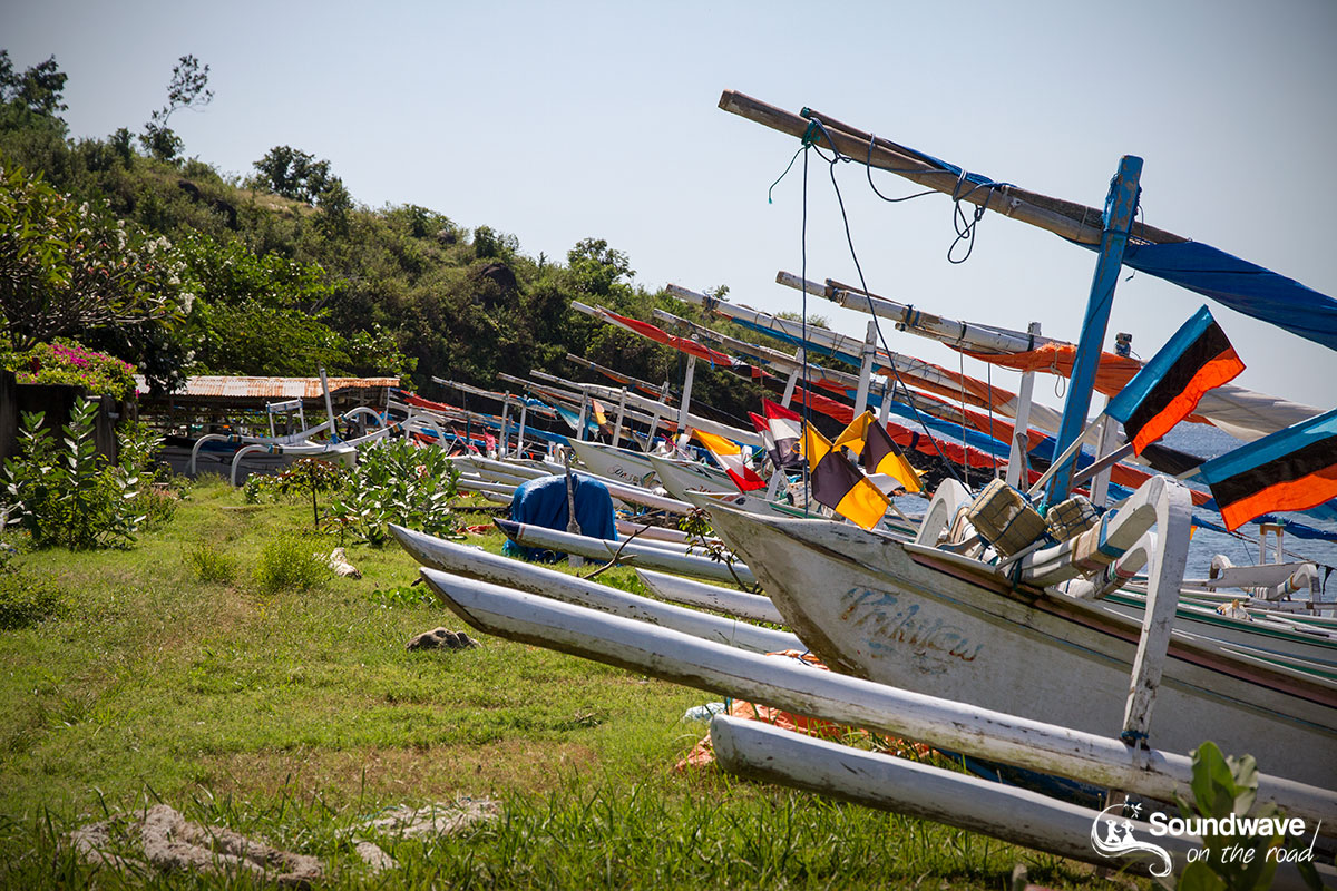 Indonesian boats in Bali