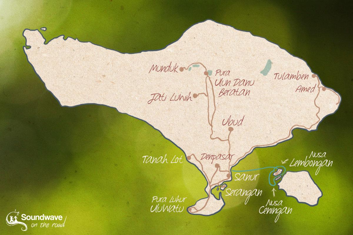 Itinéraire de voyage à Bali