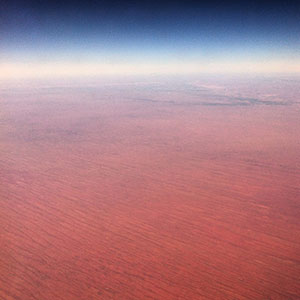 Flight over the australian outback