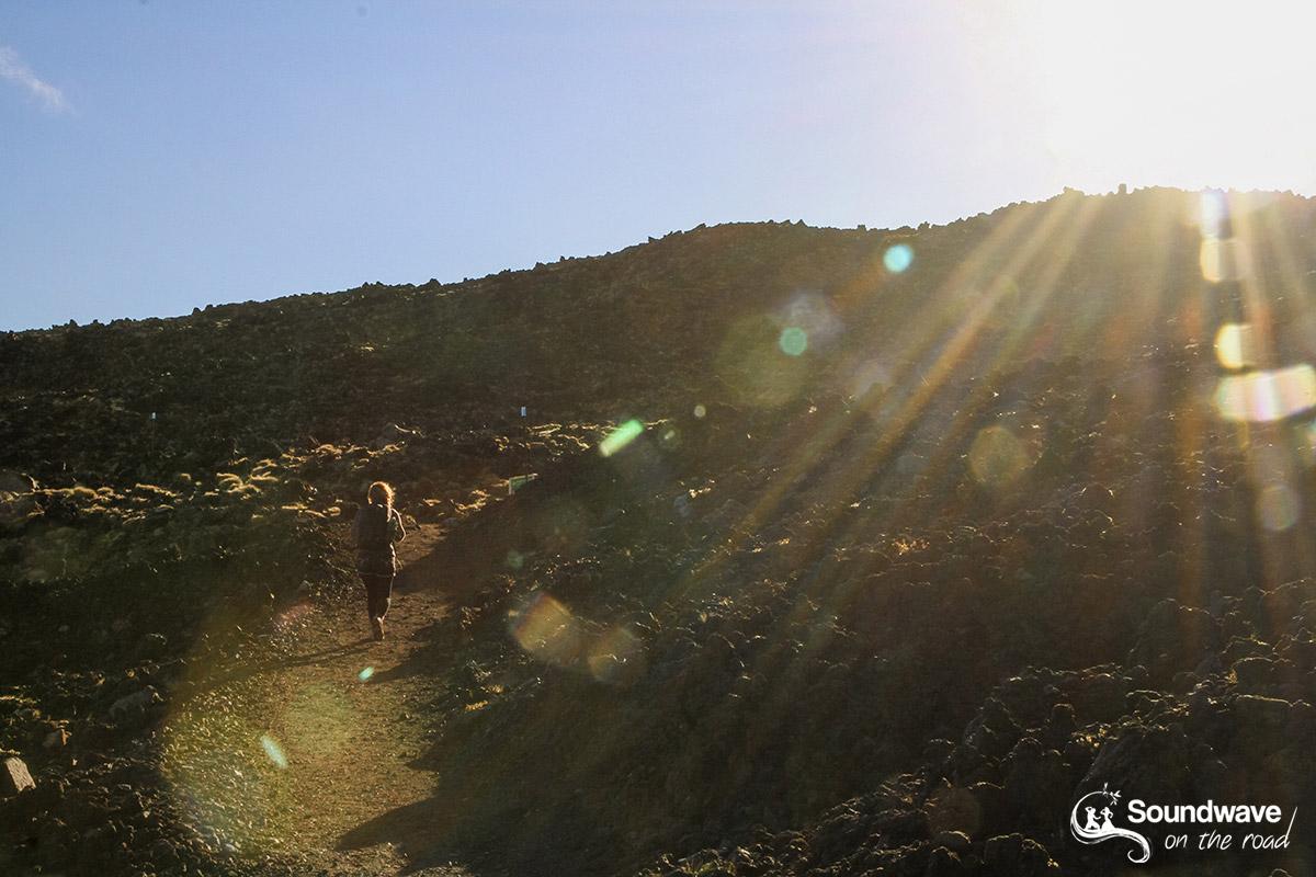 Sunny rays on the mountain