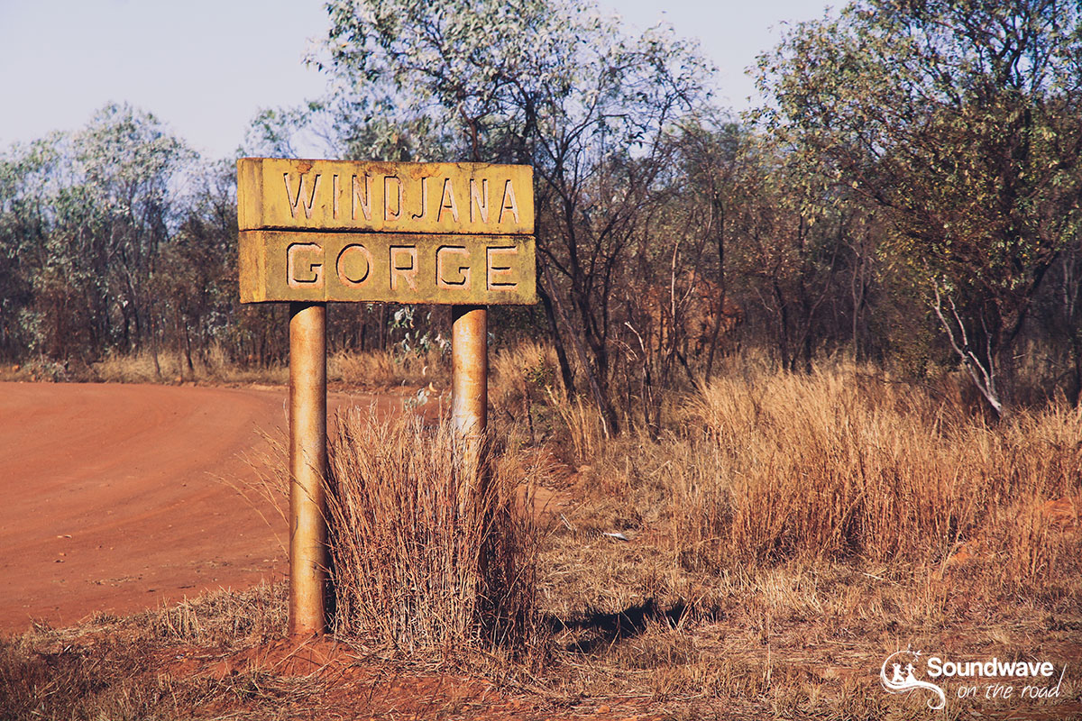 Windjana Gorge Road Sign