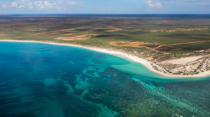 Gnaraloo Bay From The Air - Ningaloo Reef - Western Australia