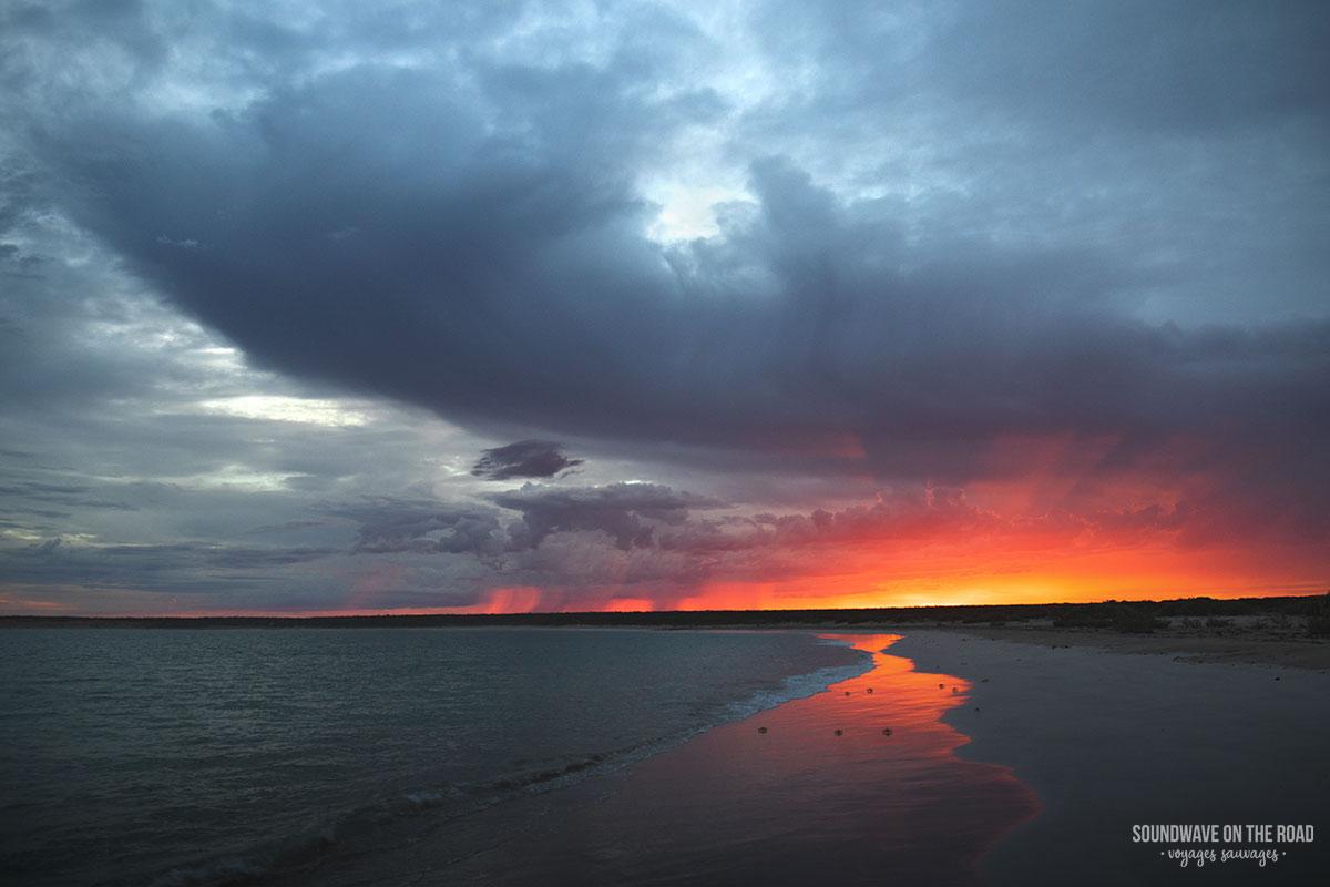 Lever de soleil à Gnaraloo Bay