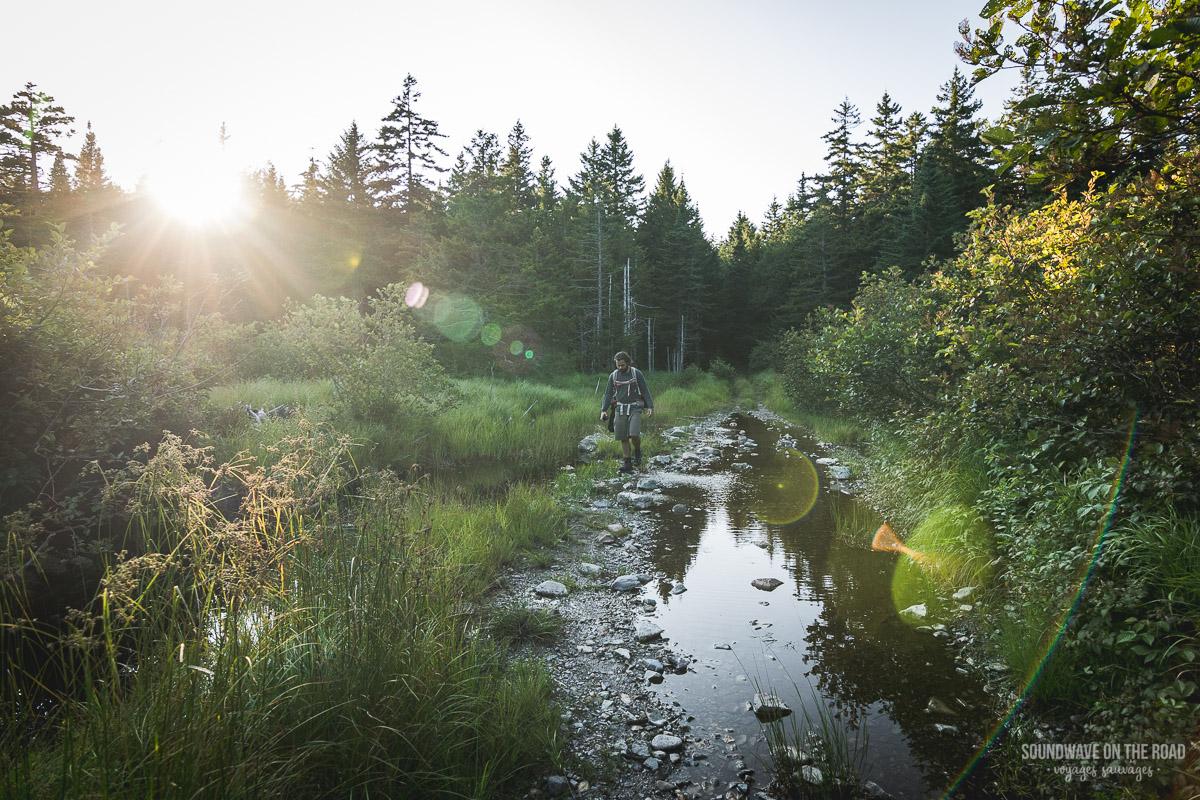 Randonnée dans le parc national de Fundy au Nouveau Brunswick