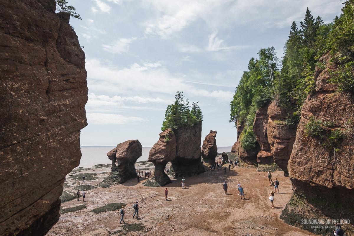 Paysage des Hopewell Rocks en été au Nouveau Brunswick