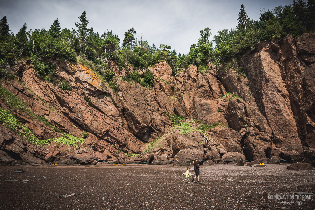 Les Hopewell Rocks au Nouveau Brunswick
