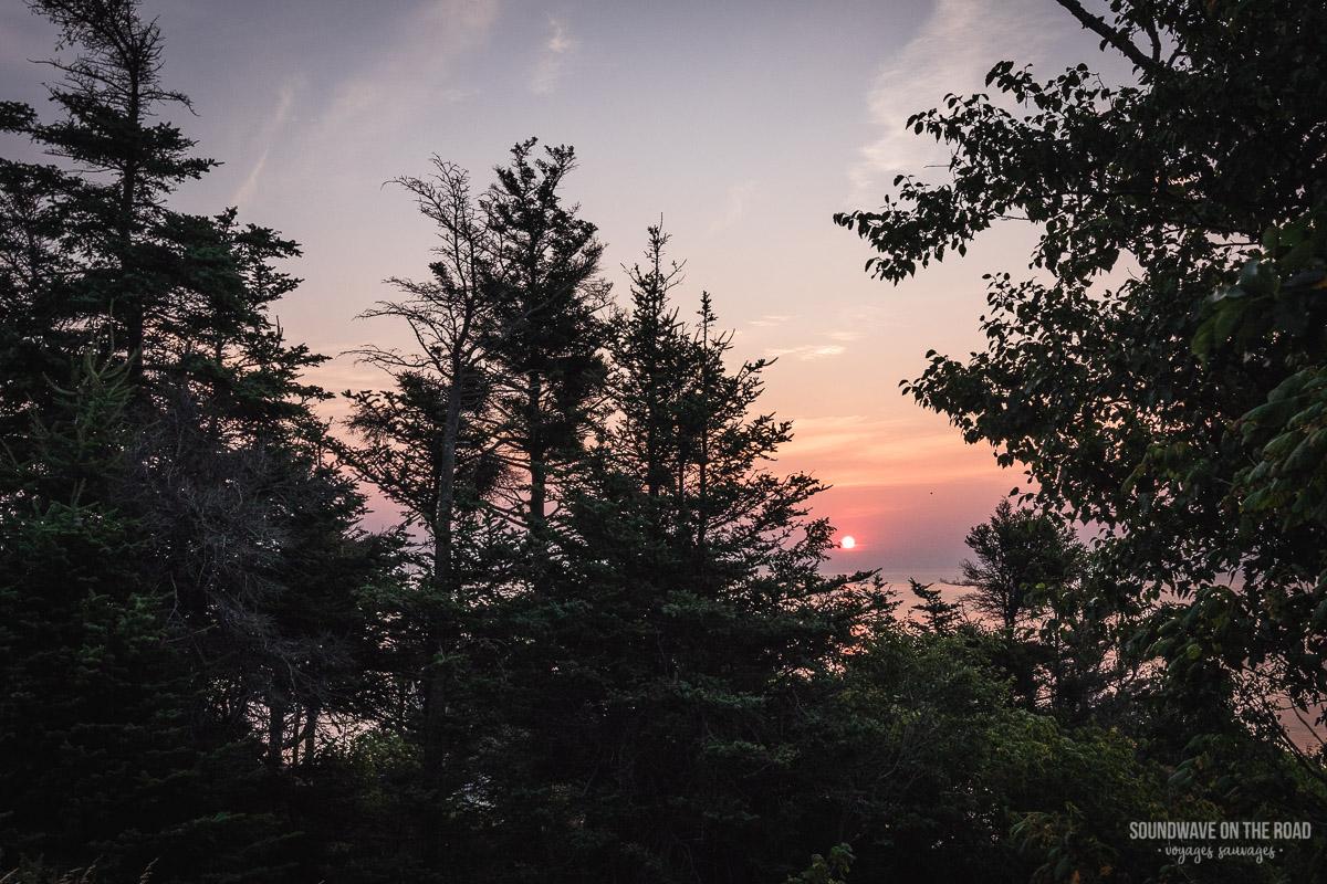 Coucher de soleil au Nouveau Brunswick