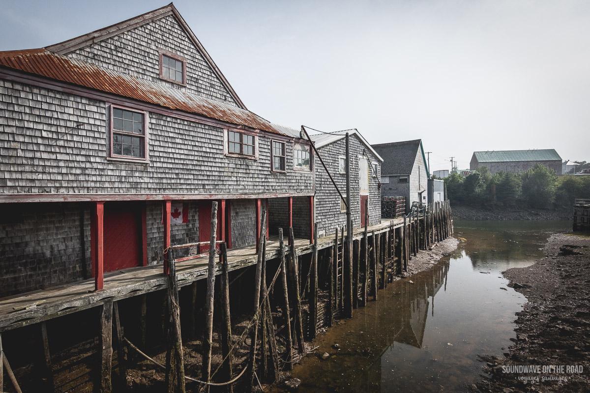 Village de pêcheurs sur l'île Grand Manan au Nouveau Brunswick