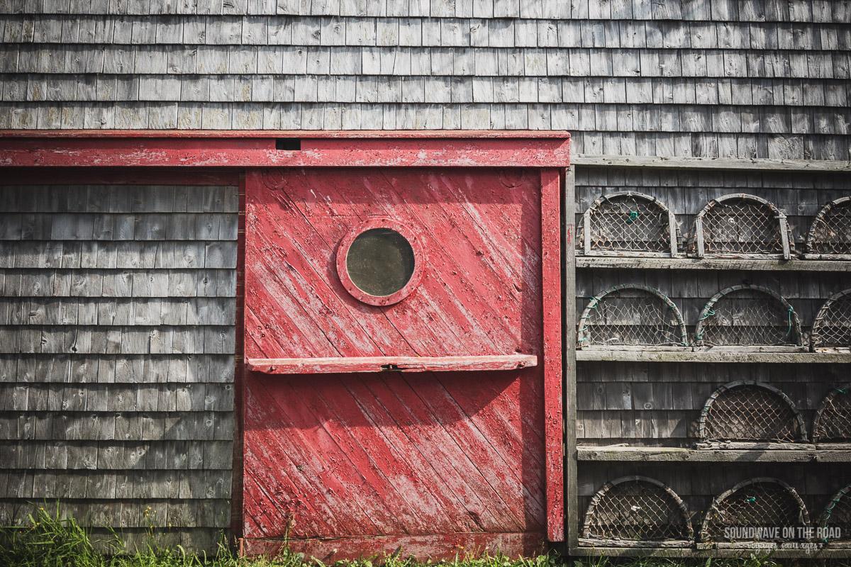 Maison de pêcheur sur l'île Grand Manan au Nouveau Brunswick