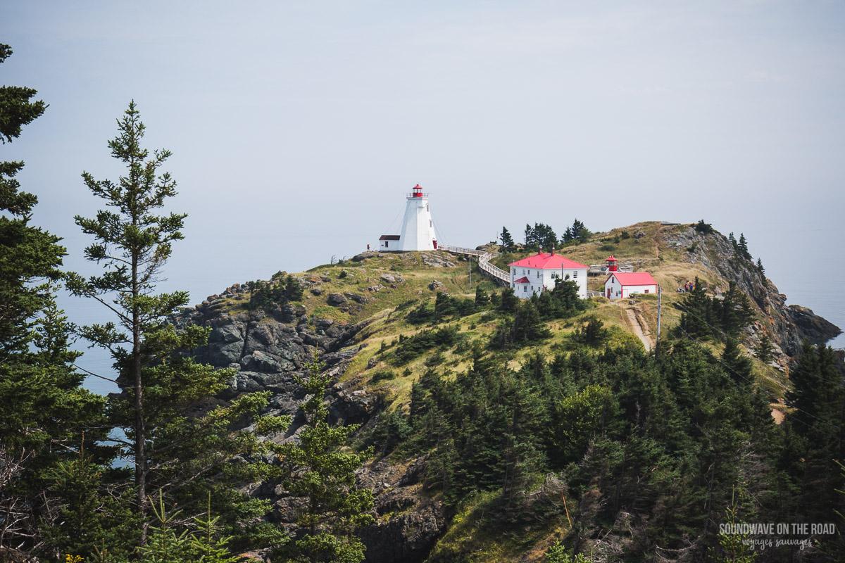 Swallowtail Lighthouse sur l'île Grand Manan au Nouveau Brunswick