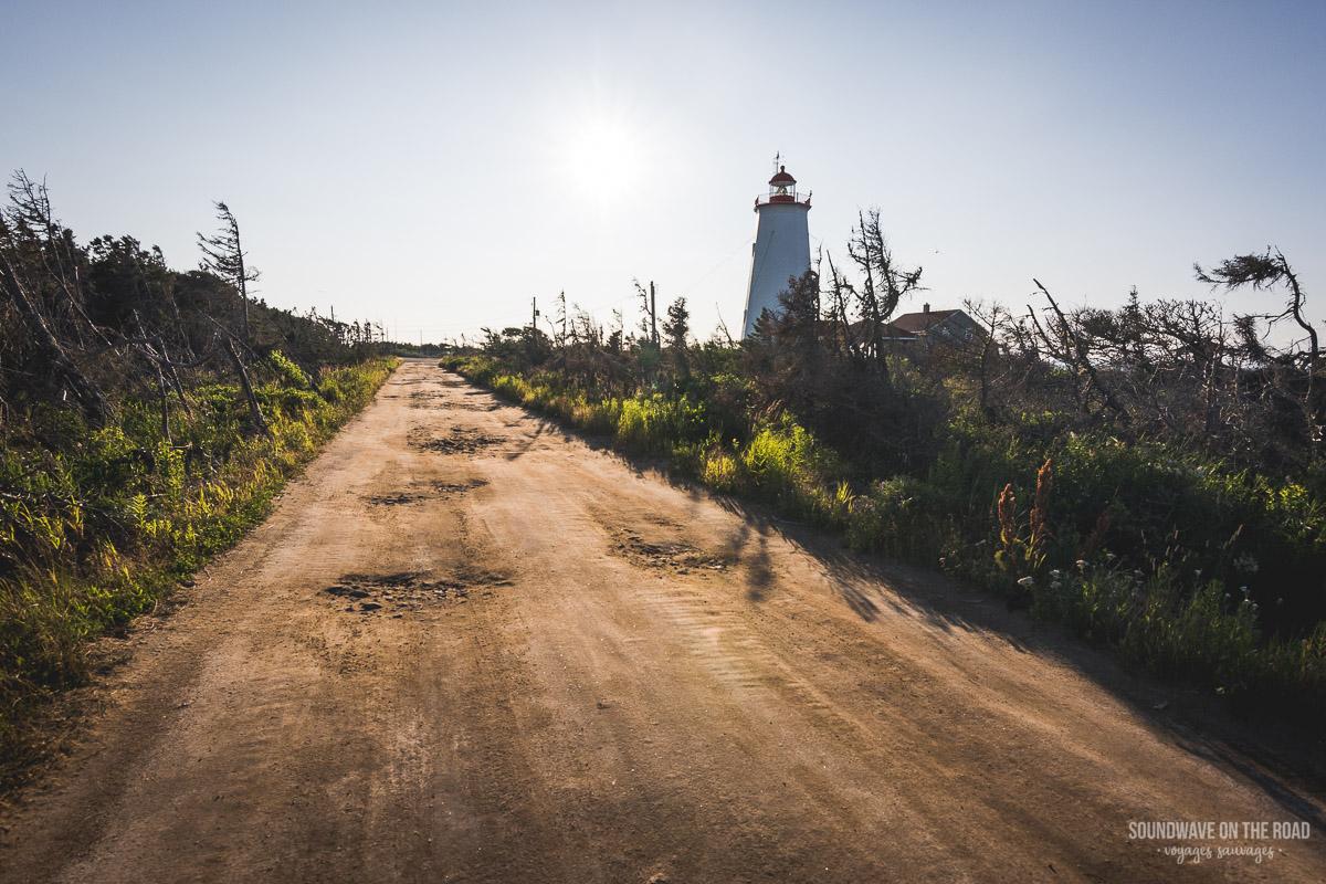 Phare de l'Île Miscou, péninsule Acadienne, Nouveau Brunswick, Canada