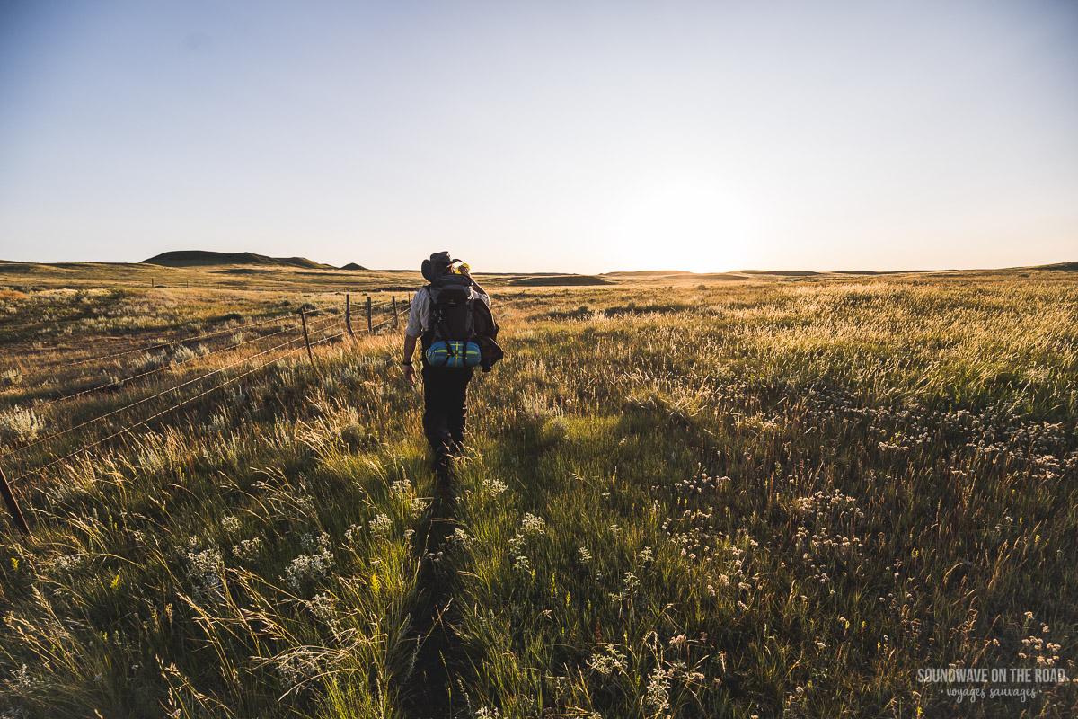 Randonnée dans le Parc National des Praires au Canada
